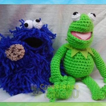 Monstruo de las galletas y la Rana Gustavo